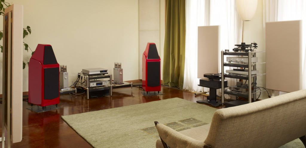 What is a high end stereo system acoustic frontiers for Living room acoustic treatment