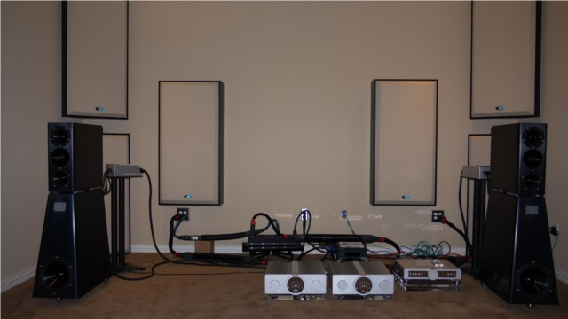 Dedicated listening room including YG Anat speakers, BMC DAC and amps and Primacoustic Acoustic treatment