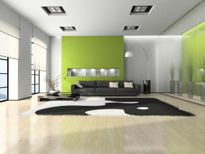 Modern room with few furnishings