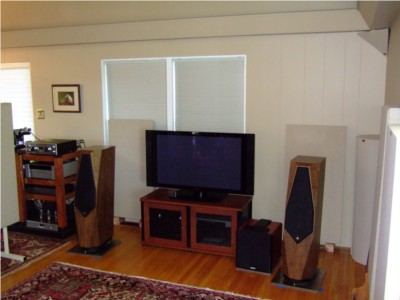 Acoustically treated listening room.