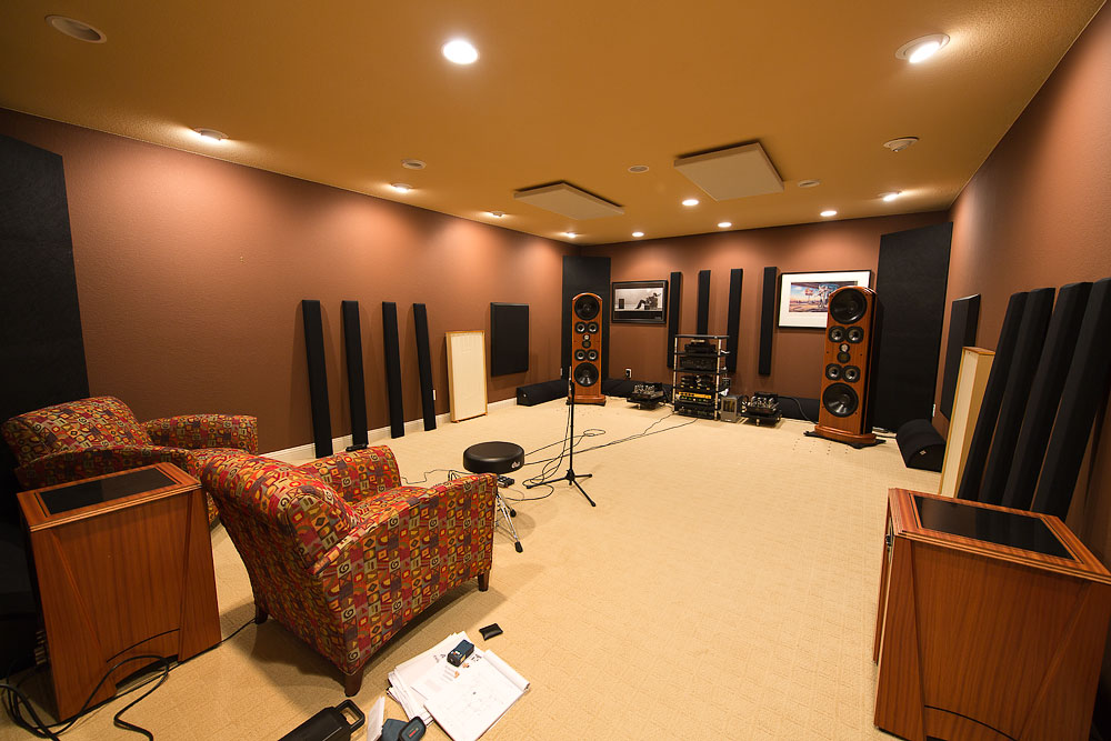 Acoustically treated high end listening room