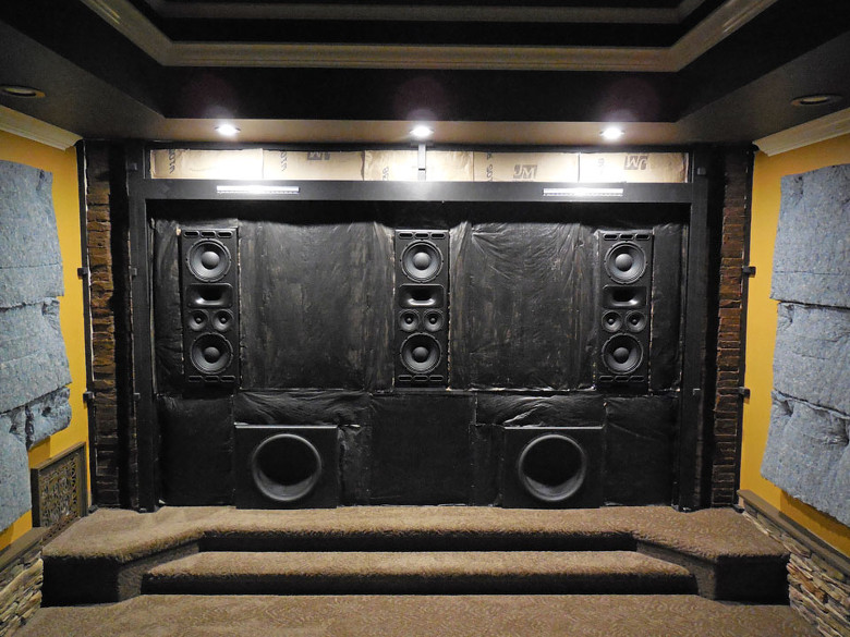 A Home Theater Acoustic Treatment Layout In North Carolina Acoustic Frontiers