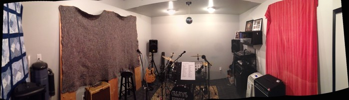 Untreated band practice room