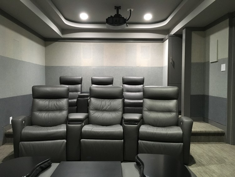 Home Theater towards rear