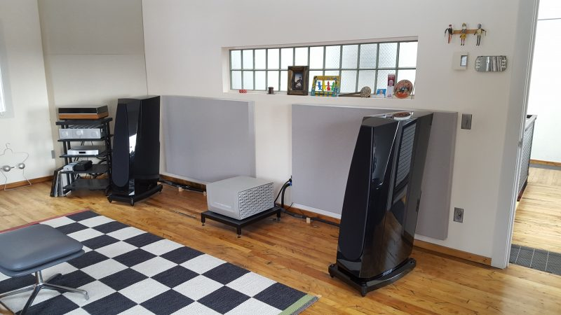 Two channel listening room acoustics
