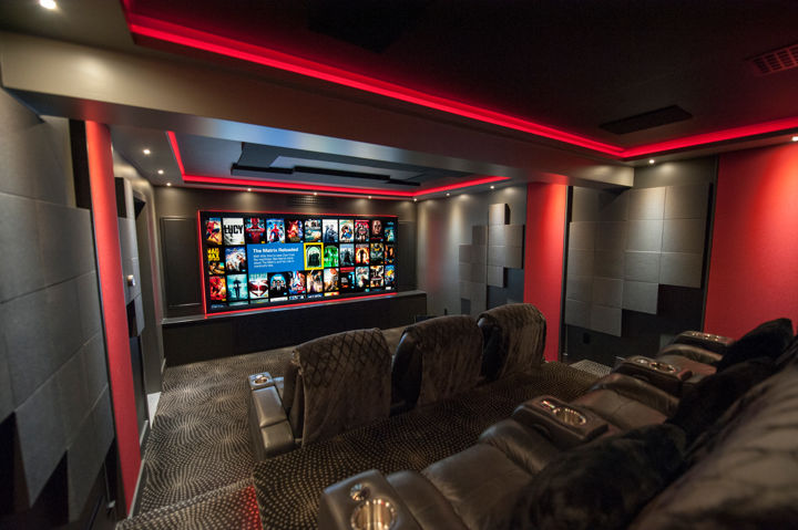 Angled view of home theater