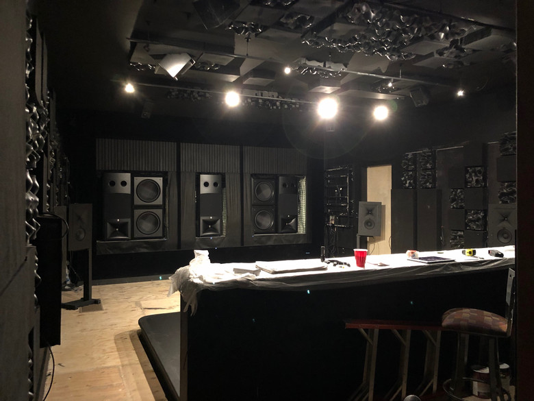 Home theater acoustic treatment
