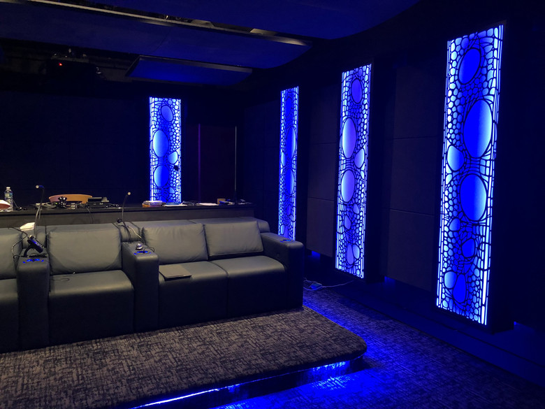 New York Dream Home Theater - view to rear